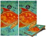 Cornhole Game Board Vinyl Skin Wrap Kit - Tie Dye Fish 100 fits 24x48 game boards (GAMEBOARDS NOT INCLUDED)