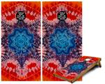 Cornhole Game Board Vinyl Skin Wrap Kit - Tie Dye Star 100 fits 24x48 game boards (GAMEBOARDS NOT INCLUDED)