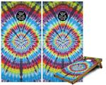Cornhole Game Board Vinyl Skin Wrap Kit - Tie Dye Swirl 100 fits 24x48 game boards (GAMEBOARDS NOT INCLUDED)