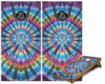 Cornhole Game Board Vinyl Skin Wrap Kit - Tie Dye Swirl 101 fits 24x48 game boards (GAMEBOARDS NOT INCLUDED)