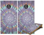 Cornhole Game Board Vinyl Skin Wrap Kit - Tie Dye Swirl 103 fits 24x48 game boards (GAMEBOARDS NOT INCLUDED)