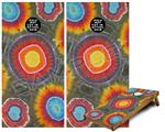 Cornhole Game Board Vinyl Skin Wrap Kit - Tie Dye Circles 100 fits 24x48 game boards (GAMEBOARDS NOT INCLUDED)