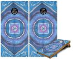 Cornhole Game Board Vinyl Skin Wrap Kit - Tie Dye Circles and Squares 100 fits 24x48 game boards (GAMEBOARDS NOT INCLUDED)