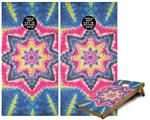 Cornhole Game Board Vinyl Skin Wrap Kit - Tie Dye Star 101 fits 24x48 game boards (GAMEBOARDS NOT INCLUDED)