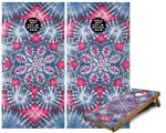Cornhole Game Board Vinyl Skin Wrap Kit - Tie Dye Star 102 fits 24x48 game boards (GAMEBOARDS NOT INCLUDED)