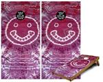 Cornhole Game Board Vinyl Skin Wrap Kit - Tie Dye Happy 100 fits 24x48 game boards (GAMEBOARDS NOT INCLUDED)