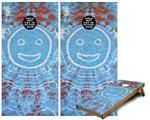 Cornhole Game Board Vinyl Skin Wrap Kit - Tie Dye Happy 101 fits 24x48 game boards (GAMEBOARDS NOT INCLUDED)