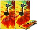 Cornhole Game Board Vinyl Skin Wrap Kit - Tie Dye Music Note 100 fits 24x48 game boards (GAMEBOARDS NOT INCLUDED)