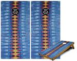 Cornhole Game Board Vinyl Skin Wrap Kit - Tie Dye Spine 104 fits 24x48 game boards (GAMEBOARDS NOT INCLUDED)