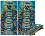 Cornhole Game Board Vinyl Skin Wrap Kit - Tie Dye Spine 106 fits 24x48 game boards (GAMEBOARDS NOT INCLUDED)