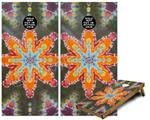 Cornhole Game Board Vinyl Skin Wrap Kit - Tie Dye Star 103 fits 24x48 game boards (GAMEBOARDS NOT INCLUDED)