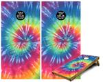 Cornhole Game Board Vinyl Skin Wrap Kit - Tie Dye Swirl 104 fits 24x48 game boards (GAMEBOARDS NOT INCLUDED)