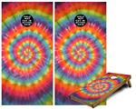 Cornhole Game Board Vinyl Skin Wrap Kit - Tie Dye Swirl 107 fits 24x48 game boards (GAMEBOARDS NOT INCLUDED)
