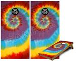 Cornhole Game Board Vinyl Skin Wrap Kit - Tie Dye Swirl 108 fits 24x48 game boards (GAMEBOARDS NOT INCLUDED)