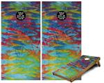 Cornhole Game Board Vinyl Skin Wrap Kit - Tie Dye Tiger 100 fits 24x48 game boards (GAMEBOARDS NOT INCLUDED)