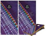 Cornhole Game Board Vinyl Skin Wrap Kit - Tie Dye Alls Purple fits 24x48 game boards (GAMEBOARDS NOT INCLUDED)