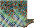 Cornhole Game Board Vinyl Skin Wrap Kit - Tie Dye Mixed Rainbow fits 24x48 game boards (GAMEBOARDS NOT INCLUDED)