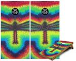 Cornhole Game Board Vinyl Skin Wrap Kit - Tie Dye Dragonfly fits 24x48 game boards (GAMEBOARDS NOT INCLUDED)
