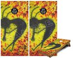 Cornhole Game Board Vinyl Skin Wrap Kit - Tie Dye Kokopelli fits 24x48 game boards (GAMEBOARDS NOT INCLUDED)