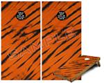 Cornhole Game Board Vinyl Skin Wrap Kit - Tie Dye Bengal Belly Stripes fits 24x48 game boards (GAMEBOARDS NOT INCLUDED)