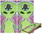 Cornhole Game Board Vinyl Skin Wrap Kit - Phat Dyes - Alien - 100 fits 24x48 game boards (GAMEBOARDS NOT INCLUDED)