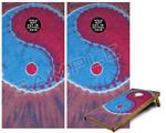 Cornhole Game Board Vinyl Skin Wrap Kit - Phat Dyes - Yin Yang - 101 fits 24x48 game boards (GAMEBOARDS NOT INCLUDED)