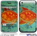 iPhone 3GS Skin - Tie Dye Fish 100