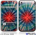iPhone 3GS Skin - Tie Dye Bulls Eye 100