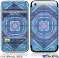 iPhone 3GS Skin - Tie Dye Circles and Squares 100