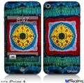 iPhone 4 Decal Style Vinyl Skin - Tie Dye Circles and Squares 101 (DOES NOT fit newer iPhone 4S)
