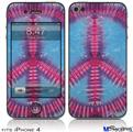iPhone 4 Decal Style Vinyl Skin - Tie Dye Peace Sign 100 (DOES NOT fit newer iPhone 4S)