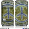 iPhone 4 Decal Style Vinyl Skin - Tie Dye Peace Sign 102 (DOES NOT fit newer iPhone 4S)