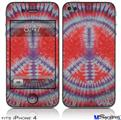 iPhone 4 Decal Style Vinyl Skin - Tie Dye Peace Sign 105 (DOES NOT fit newer iPhone 4S)
