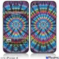 iPhone 4 Decal Style Vinyl Skin - Tie Dye Swirl 101 (DOES NOT fit newer iPhone 4S)