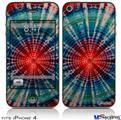 iPhone 4 Decal Style Vinyl Skin - Tie Dye Bulls Eye 100 (DOES NOT fit newer iPhone 4S)