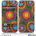 iPhone 4 Decal Style Vinyl Skin - Tie Dye Circles 100 (DOES NOT fit newer iPhone 4S)