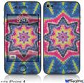 iPhone 4 Decal Style Vinyl Skin - Tie Dye Star 101 (DOES NOT fit newer iPhone 4S)