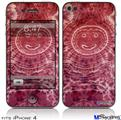 iPhone 4 Decal Style Vinyl Skin - Tie Dye Happy 102 (DOES NOT fit newer iPhone 4S)
