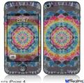 iPhone 4 Decal Style Vinyl Skin - Tie Dye Star 104 (DOES NOT fit newer iPhone 4S)