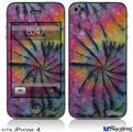 iPhone 4 Decal Style Vinyl Skin - Tie Dye Swirl 106 (DOES NOT fit newer iPhone 4S)