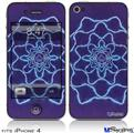 iPhone 4 Decal Style Vinyl Skin - Tie Dye Purple Stars (DOES NOT fit newer iPhone 4S)