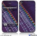 iPhone 4 Decal Style Vinyl Skin - Tie Dye Alls Purple (DOES NOT fit newer iPhone 4S)