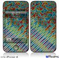 iPhone 4 Decal Style Vinyl Skin - Tie Dye Mixed Rainbow (DOES NOT fit newer iPhone 4S)