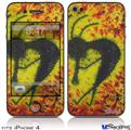 iPhone 4 Decal Style Vinyl Skin - Tie Dye Kokopelli (DOES NOT fit newer iPhone 4S)
