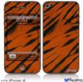 iPhone 4 Decal Style Vinyl Skin - Tie Dye Bengal Side Stripes (DOES NOT fit newer iPhone 4S)
