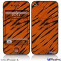 iPhone 4 Decal Style Vinyl Skin - Tie Dye Bengal Belly Stripes (DOES NOT fit newer iPhone 4S)