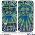 iPhone 4 Decal Style Vinyl Skin - Tie Dye Peace Sign Swirl (DOES NOT fit newer iPhone 4S)