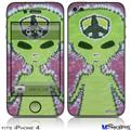 iPhone 4 Decal Style Vinyl Skin - Phat Dyes - Alien - 100 (DOES NOT fit newer iPhone 4S)