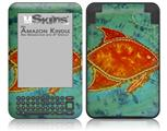 Tie Dye Fish 100 - Decal Style Skin fits Amazon Kindle 3 Keyboard (with 6 inch display)