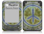 Tie Dye Peace Sign 102 - Decal Style Skin fits Amazon Kindle 3 Keyboard (with 6 inch display)